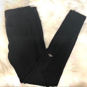 Alo yoga leggings modern mesh black in small